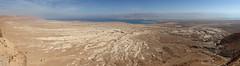 Masada View East (wmliu) Tags: panorama castle israel desert pano middleeast palace handheld fortress masada deadsea stitched canonef2470mmf28lusm  jordanvalley 2470mm ptgui yehudadesert perfectpanoramas wmliu romansiegecamp