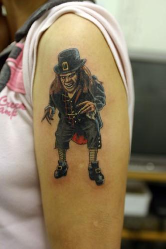Chinese and cartoon  Fantasy tattoo