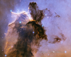The Eagle Has Risen, Stellar Spire in the Eagle Nebula (Venom82) Tags: pictures light sky beautiful night star photo space awesome year ngc images nasa formation telescope nebula hubble lightyears