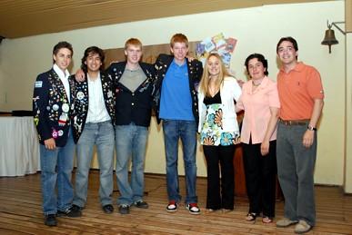 Intercambistas Rotarianos junto con integrantes de ROTARY CLUB HERNANDO