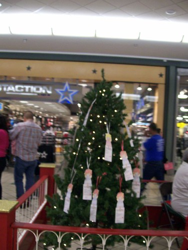 Angel tree at South Park Mall