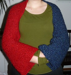 Two colour shrug