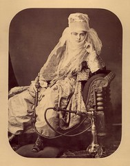 Young Woman with a Hookah by 19th Century Photographic Images