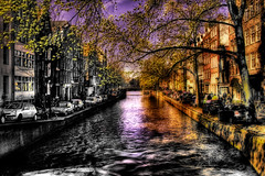 Shadow and Light (BarneyF) Tags: light shadow reflection building tree amsterdam canal hdr selectiveorton superhearts