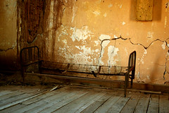 Old Bed in room (TheEllsworth.com) Tags: pictures old wallpaper arizona southwest slr history abandoned digital canon photography eos rebel photo bed bedroom mine photographer photos pics ghost 1800s picture az haunted forbidden frame ghosttown historical 1942 vulture wildwest authentic 1863 oldwest goldmine assay xti wildwestern henrywickenburg