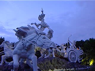 Krishna in his chariot in Denpasar