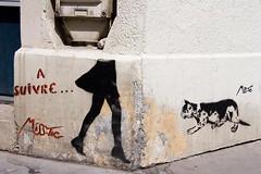 MissTic sur les murs du 13 - Paris (un oeil qui trane) Tags: street urban streetart paris france art collage print poster stencil paint peinture affichage 75 affiche graffitis affiches misstic arrondissements 13