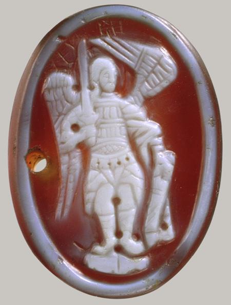 Enkolpion, Byzantine Cameo of an Archangel, probably 14th century