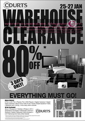 25 jan courts warehouse clearance malaysia 2008