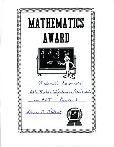 Math Award001