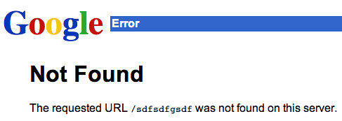 Google 404 Page
