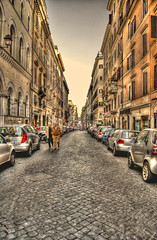 Warm Rome - HDR (Ageel) Tags: street people italy rome roma cars buildings d50 photography nikon warm hdr    ageel  warmrome