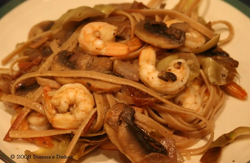 Shrimp and Artichoke Whole Wheat Fettuccine