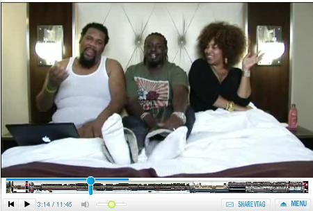 T PAIN Joins FATMAN SCOOP & HIS WIFE IN BED ON manandwife tv