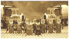 Lineup (A J Summersgill) Tags: army lego military wwii wehrmacht brickarms