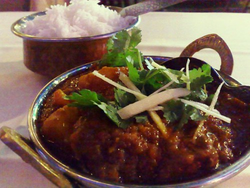 Mutton Vindaloo and Bhasmati Rice