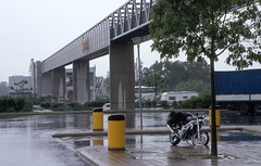 Swiss cleaning (Rob de Hero) Tags: rain analog schweiz switzerland swiss slide autobahn dia motorbike motorcycle 650 suzuki analogue sv650 regen sv motorrad motorcycletrip motorradtour motorbiketrip