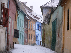Snowfall in Sighisoara, Romania (zio paperino) Tags: street old windows winter vacation snow color nature architecture geotagged lumix town ruins europe colours decay ruin vivid natura medieval dracula unesco east panasonic romania sighisoara neve transylvania inverno borgo medievale transilvania soe vlad burg italians roumanie tepes fz50 dracul naturesfinest blueribbonwinner supershot segesvar abigfave platinumphoto anawesomeshot aplusphoto superbmasterpiece diamondclassphotographer flickrdiamond theunforgettablepictures theperfectphotographer goldstaraward ziopaperino mygearandme mygearandmepremium mygearandmesilver mygearandmegold