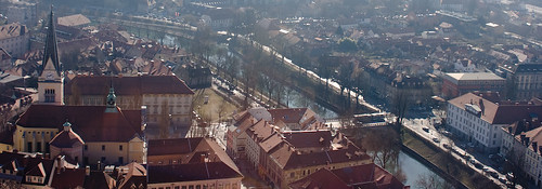 Ljubljana old town panoramic