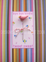 Tweet Sweet Pin Topper (Pinks & Needles (used to be Gigi & Big Red)) Tags: sculpture birds birdie sewing polymerclay clay etsy pintopper
