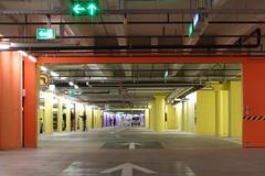 Color Change (Kecko) Tags: red color colour rot yellow shopping underground schweiz switzerland europe purple suisse swiss garage parking kecko ostschweiz center lila arena gelb sg svizzera 2008 stgallen farbe tiefgarage parkhaus einkaufszentrum winkeln swissphoto