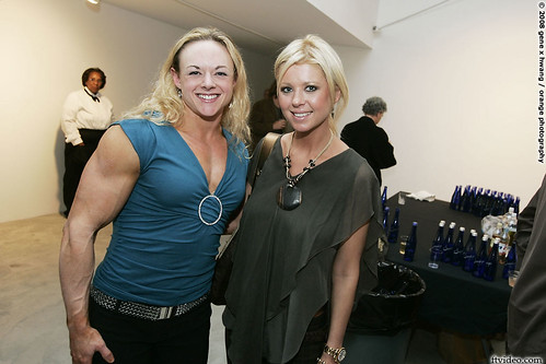 Kristy Hawkins And Tara Reid At Martin Schoeller Female Bodybuilder