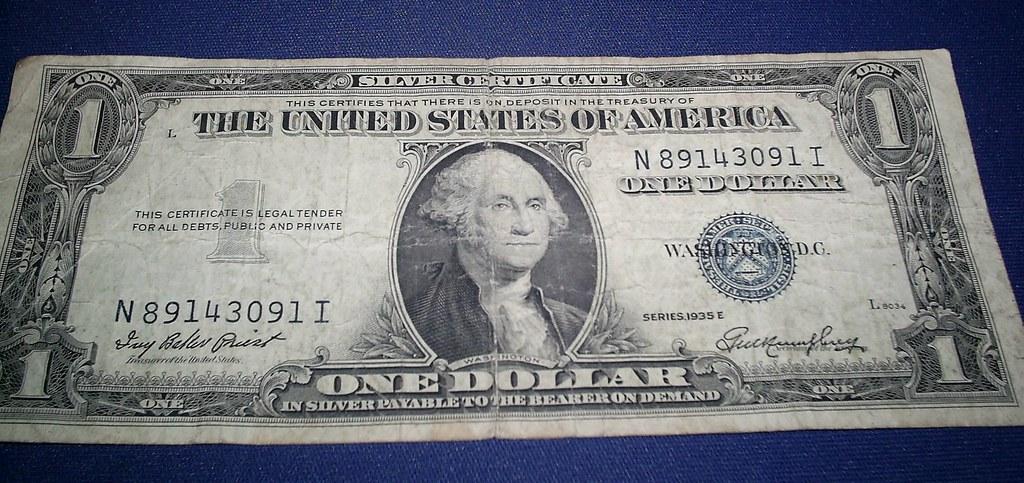 1935E Silver Certificate