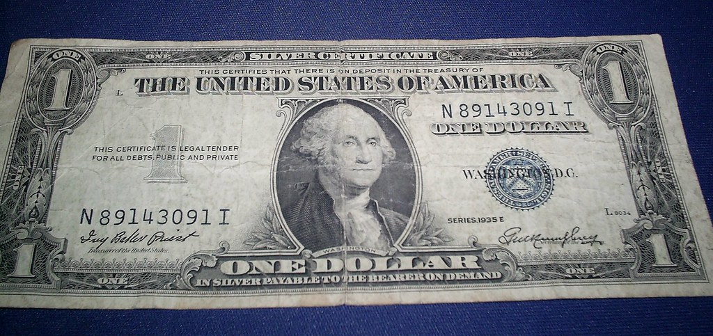 1935 1 Silver Certificate 1935 1 1923 Peace Silver