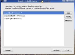 memilih dan mengedit opsi bootloader
