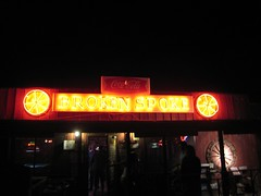 The Broken Spoke (mollyali) Tags: sign neon wagonwheel austintx brokenspoke honkytonk twostepping
