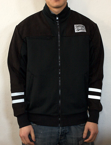 Twelve Bar Carrera Track Jacket Black