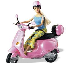 Win een roze Vespa!