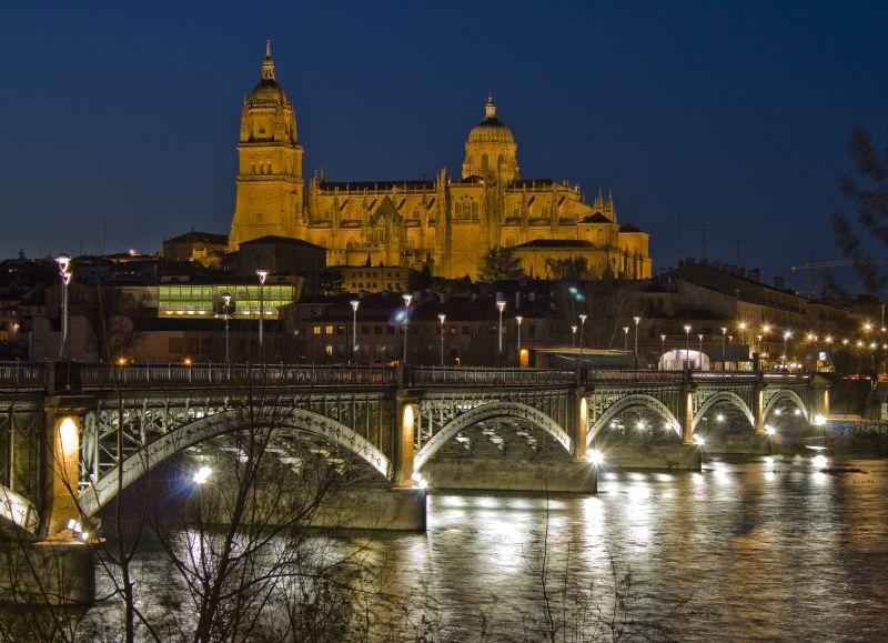 Photo de Castille-Leon n°4. Photo du pont et de la cathédrale de Salamanque