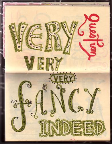 lettering sketchbook from linzie hunter
