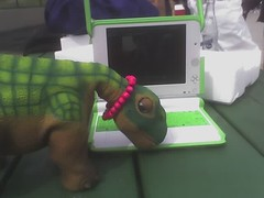 pleo nuzzling olpc