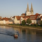 Regensburg: Danube River and The Cathedral of St. Peter