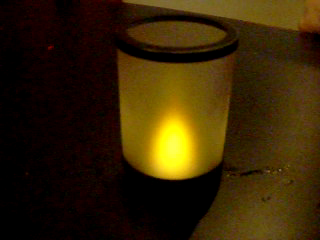Flickering Electric Candle at Restaurant