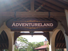 Adventureland Sign Magic Kingdom Walt Disney World