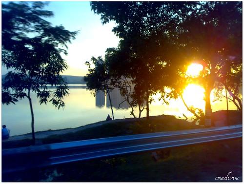 sunset at Tasik Biru.