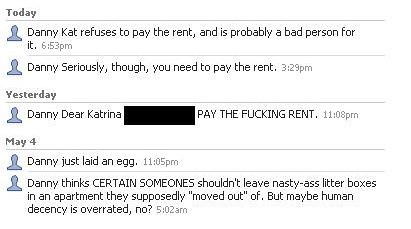 Seriously, though, you need to pay the rent.