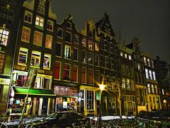 Nieuwmarkt houses (Marco Battini) Tags: colors amsterdam night nieuwmarkt hdr lucis 3xp photomatrix