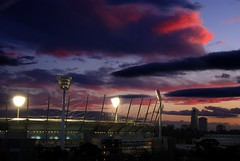 Melbourne Cricket Ground (MCG) (scott photos) Tags: sunset night clouds lights iso100 evening football nikon dusk stadium g australia melbourne ground victoria f10 cricket 1870mmf3545g final nikkor 1870mm mcg australie 38mm melbournecricketground theg 05sec byscottphotos theperfectphotographer
