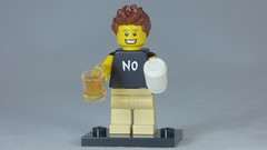 Brick Yourself Custom Lego Figure Coffee &  Beer & hand-painted NO