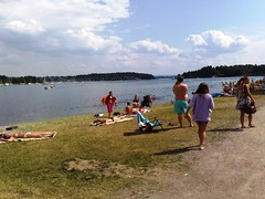 Hot summer at the beach in Oslo Norway #11