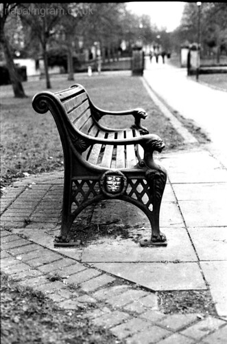 Park bench somewhere in nottingham