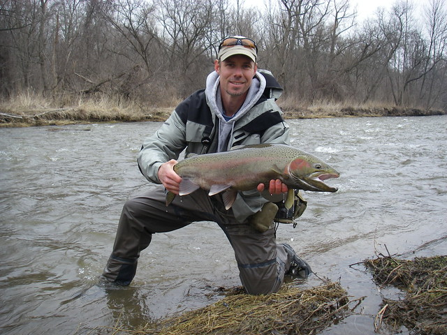 Head Guide Graham with a spring steelhead