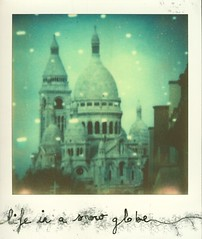 What would it be like ... (milkysoldier) Tags: paris polaroid sx70 montmartre sacrcoeur snowglobe impossible impossibleproject px680