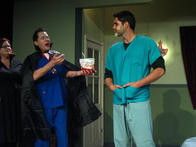 Dr. Romero (Matthew Marchant), a zombie.