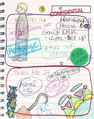 Feb 26 & 27, 2014 (trishsworld) Tags: color art calendar drawing doodle february schedule planner 2014 datebook