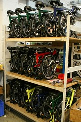 Finished Bromptons (marcus_jb1973) Tags: london bike bicycle factory cycle folding brentford brompton bromptonbicycle bromptonfactory